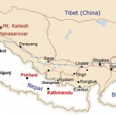 Nepal to Mount Kailash Map