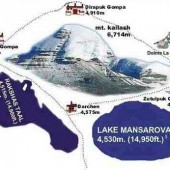 Map of Mount Kailash & Lake Mansarovar