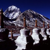 Chortens and Kailash 170x170 Mount Kailash Mansarovar Photos