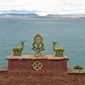 Tibet Kailash 07 Manasarovar 10 Gossul Gompa With Lake 170x170 Mount Kailash Mansarovar Photos