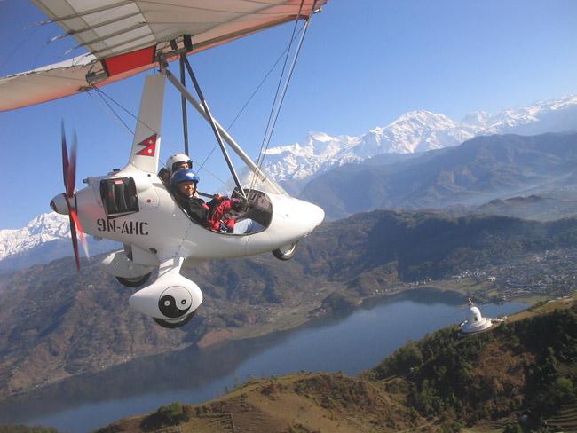 Ultralight Flight in Pokhara | Kailash Journeys Pvt  Ltd